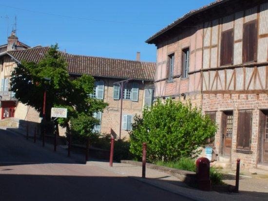 Chatillon-sur-Chalaronne, Γαλλία: maisons à colombages