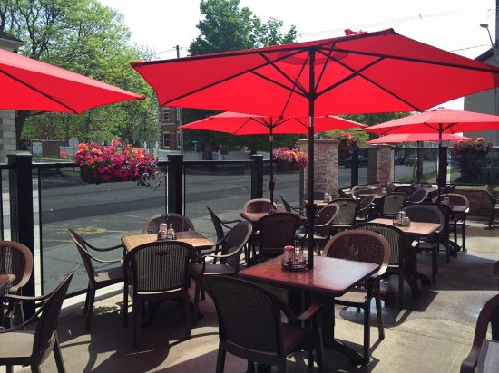 Perth, Canada: Our sunny patio overlooking the Tay Basin