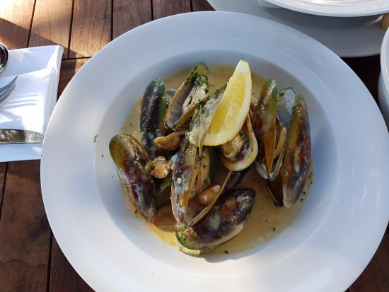 Paihia, New Zealand: Nice mussels at The Gable