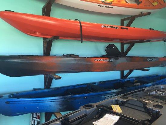 Sunset Beach, NC: Huge selection of Kayaks