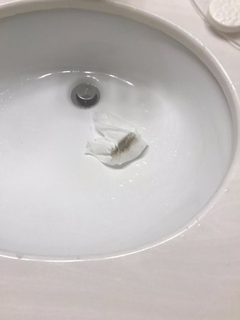 Franklin, IN: I used a cleaning wipe around the rim of the sink and this is what came off.