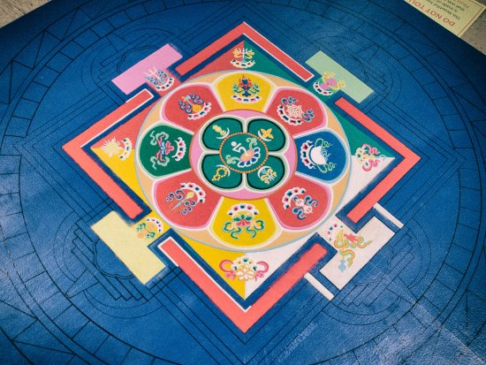 Tequesta, FL: Partially completed Sand Mandala