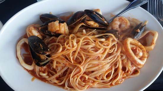 Riverview, FL: Linguini Malafemmina:  Shrimp, calamari, sea scallops, and mussels sautéed with garlic and basi