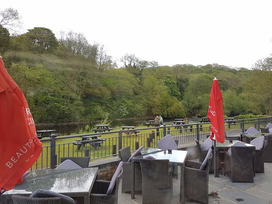 Jackfield, UK: Outside Terrace