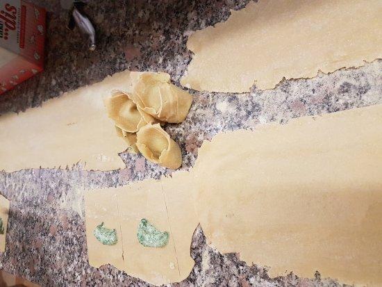 Horst, Belanda: Tortelloni gevuld met ricotta en spinazie