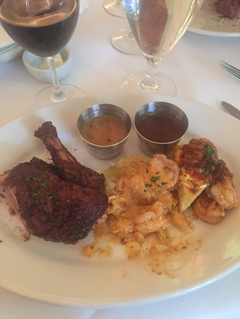 Upperline Restaurant: Taste of New Orleans entree (less a few bites)