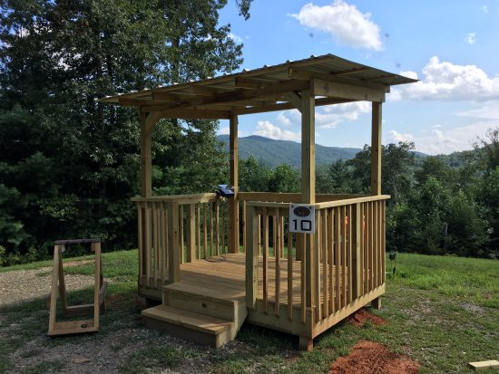 Blue Ridge, GA: Our version of the Amen Corner on the Sporting Clays course at Noontootla Creek Farms