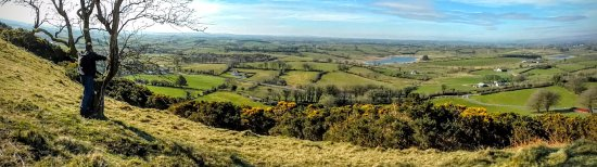 Ballymote, Ireland: View from the first set of caves at Kesh.  There is a cairn and additional caves up top