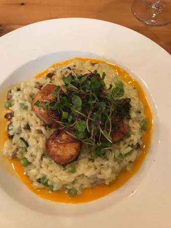 Effingham, IL: Korean Short Ribs, hummus plate and scallop risotto