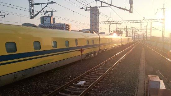 Chugoku, Japan: 小倉駅でドクターイエローを目撃