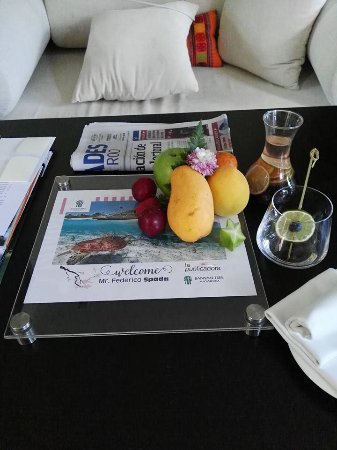 Banyan Tree Mayakoba: my welcome amenities personalize