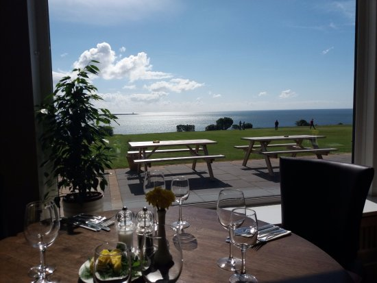 Dunmore East, Ireland: Image shows The Hook head lighthouse from our Restaurant on a beautiful day