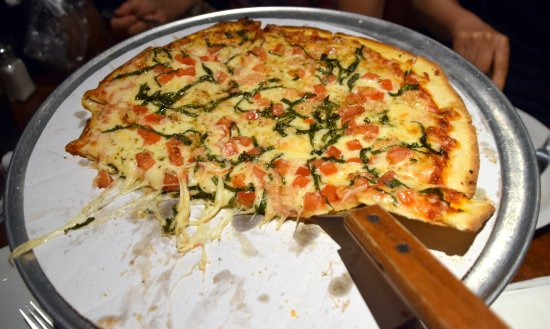Elk Grove, Kaliforniya: Thin crust cheese pizza