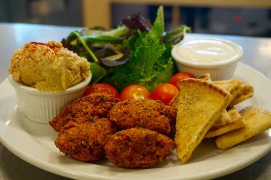 Redwood City, CA: Hummus & Falafel Plate