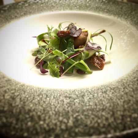 Stoke Poges, UK: Roast Quail, New Season Asparagus