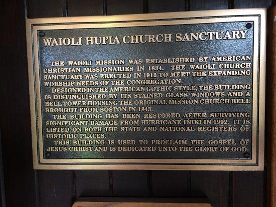 Hanalei, HI: Waioli Huiia History