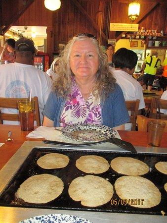 De Leon Springs, FL: Lots of pancakes