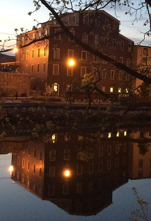 Penn Yan, NY: View of the Wine Bar from the opposite side of the river
