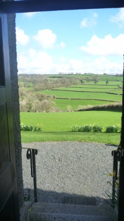 Tavistock, UK: View from front door in spring