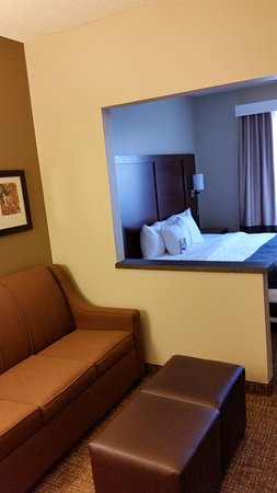 Comfort Suites Old Town: Sofa, room divider, bed