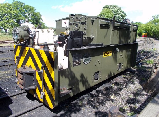 Leighton Buzzard, UK: Ex-RAF Battery Loco for underground weapons stores.