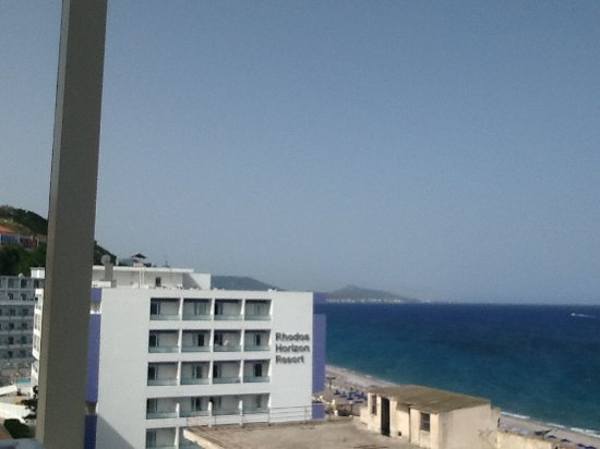 Agla Hotel: View to the left from fifth floor room.