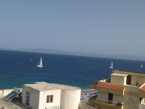 Agla Hotel: View to the right from fifth floor room.