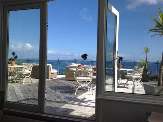 Boskerris Hotel: Stunning terrace