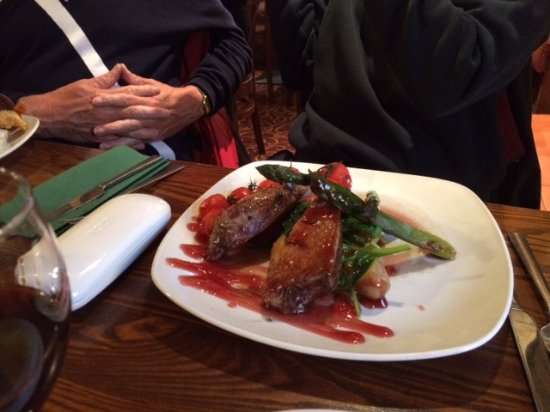 Haddington, UK: duck breast w/asparagus & new potatoes