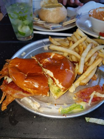 Fulton, TX: Soft Shell Crab Sandwich with Bacon and Avocado