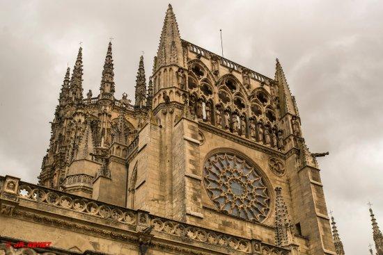 Catedral de Burgos: Vista exterior del rosetón.