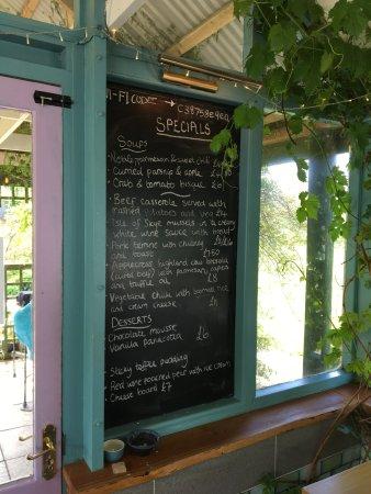 Applecross, UK: Today's menu.