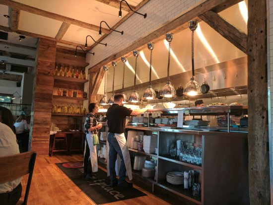 Avon, CT: view into kitchen