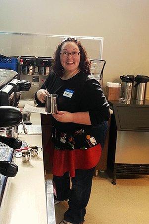 Norwood, Μινεσότα: Angie Block, the world's best barista!