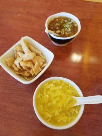 Surry, VA: Egg Drop and Hot and Sour soups to start our lunch