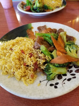 Surry, VA: Beef and Broccoli with large pieces of carrots! Fried rice w/o onions