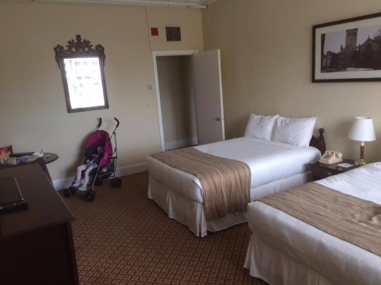 Boston Hotel Buckminster: Room 2 which we used as kitchen/dining room/childs nap room