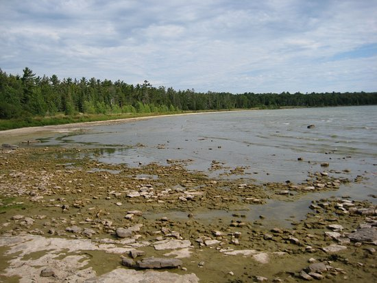 Ellison Bay, WI: View of Lake Michigan looking North towards Sand Bay