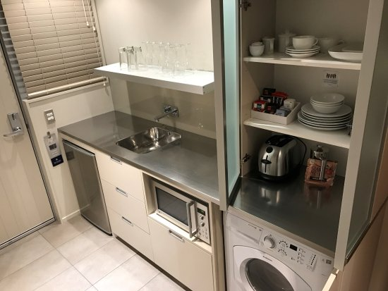 Small kitchen w/ Washer/Dryer - Picture of Bluestone on ...