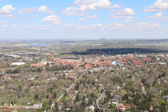 "Boulder, CO: View of CU from the ""view point"""