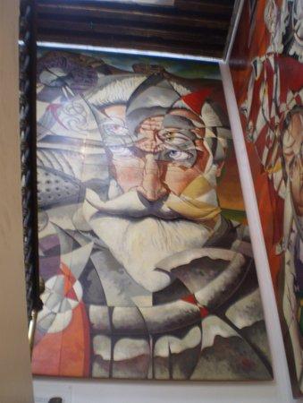 Don Quixote Iconographic Museum (Museo Iconografico del Quijote) : Esta obra se ve cuando subes las escaleras. Las fotos no le hacen justicia a estas obras de arte