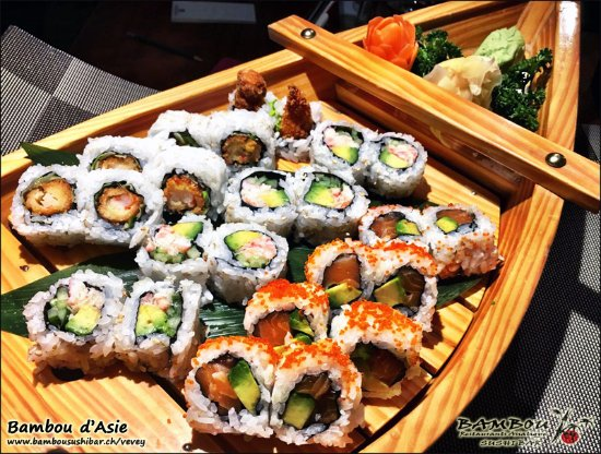 menu sushi photo de bambou d 39 asie vevey tripadvisor. Black Bedroom Furniture Sets. Home Design Ideas