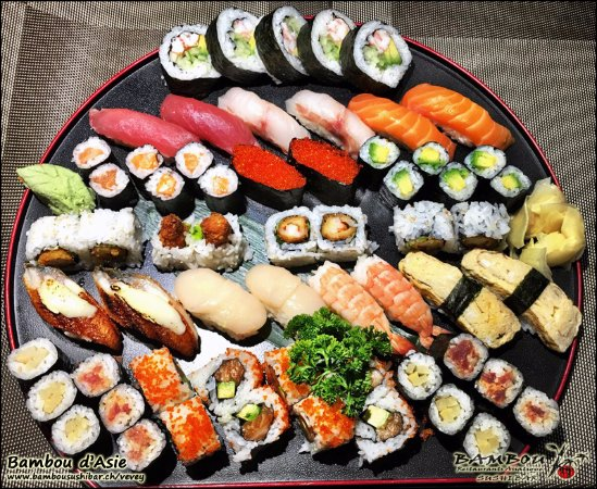 Bambou d'Asie : Menu sushi