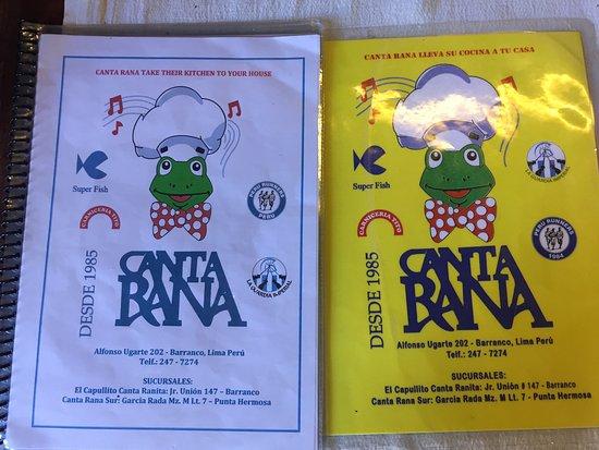 english & spanish menus - Picture of Canta Rana, Lima
