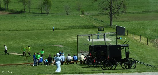 Millersburg, OH: Amish playing a game