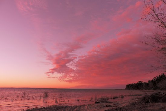 Beaver Island, MI: Nearby sunrise...and sunsets.