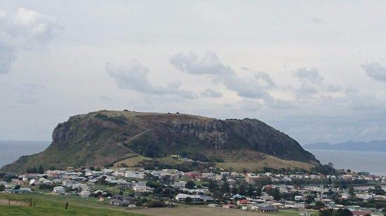 Stanley, Australien: 町外れからの遠望