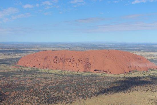 Yulara, Australia: Uluru from above, whole new perspective.