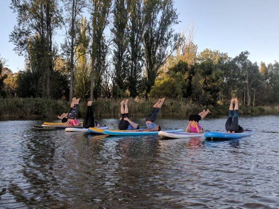 Caveman Yoga : Sup yoga with jo from joga picture of the sup'ing caveman