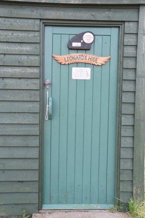 Mainland, UK: Ingang van de natuurhut.